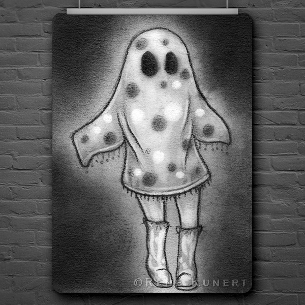 Drawlloween Day 28 - Ghosts-a-go-go